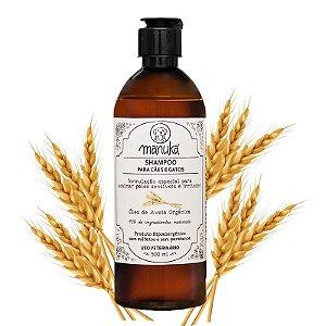 Shampoo Aveia Orgânica para acalmar a pele Hipoalergênico, sem parabenos e sem sulfatos 500 ml