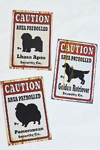 Placa Area Patrolled - Várias Raças