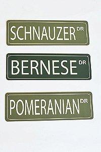 Placa Drive - Rua dos Estados Unidos com várias raças