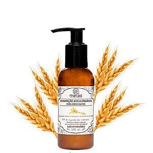 Hidratação Leave in Aveia Orgânica para peles sensíveis Hipoalergênico, sem parabenos 120ml