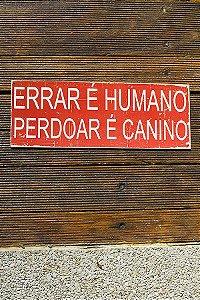 Placa Errar É Humano