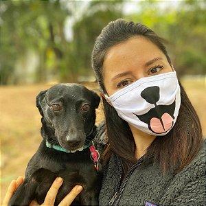 Máscara de Proteção Cachorro e Gato  - Pacote com 3 unidades