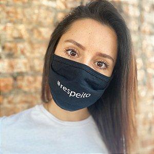Máscara de Proteção #respeito Pacote com 3 unidades