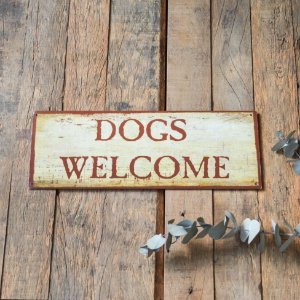 Placa Dogs Welcome Chocolate