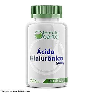 Ácido Hialurônico 50mg 60 Cápsulas