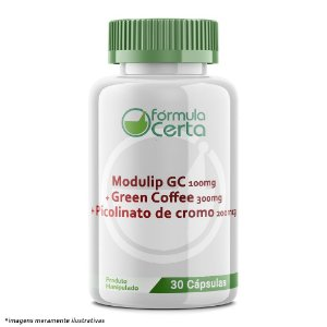 Modulip GC 100mg + Green Coffee 300mg + Picolinato de cromo 200mcg