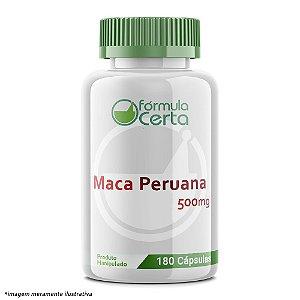 Maca Peruana 500mg 180 Cápsulas