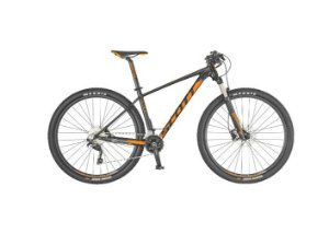 Bicicleta aro 29 Scott Scale 970 cor preto e laranja