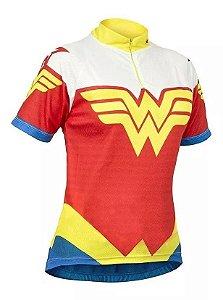 Camisa Ciclismo Refactor Mulher Maravilha manga curta