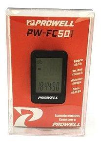 Ciclocomputador Velocímetro Prowell PW-FC501 com fio