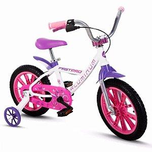 Bicicleta aro 14 Nathor First Pro Feminino
