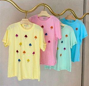 T-Shirt Sorvete Amarela