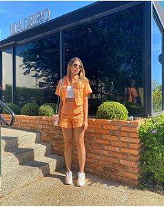 Shorts de Sarja Laranja