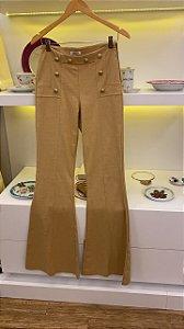 Calça de Sarja Botões Dourados