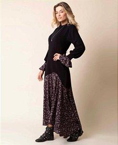 Vestido Floral Dark Comfy
