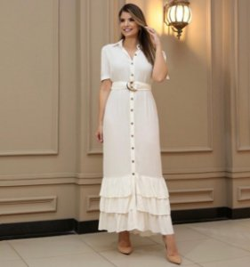 Vestido Rebeca Off White