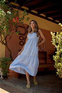 Vestido Azul Laço