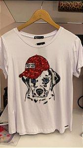 T-Shirt Cachorro Bordado
