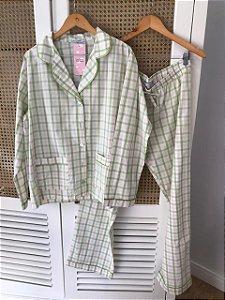 Pijama Xadrez Verde