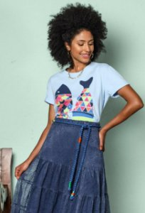 T-shirt Stella Azul Claro