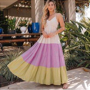 Vestido Longo Colors Aretha
