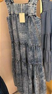 Vestido Jeans Lavagem Vintage