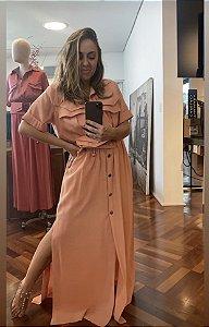 Vestido Chemisie com cinto bolsinha
