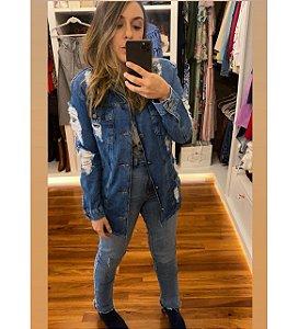 Maxi Jaqueta Jeans