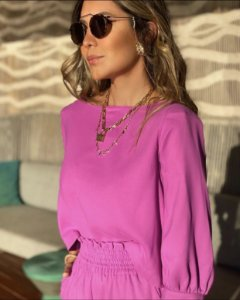 Blusa ombreira minimalista Lulu