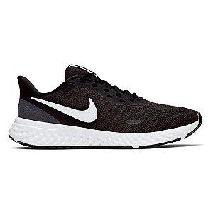 Tênis Nike Revolution 5 Feminino - Preto+Branco
