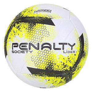 Bola de Futebol Society Penalty Líder XXI - Branco+Amarelo