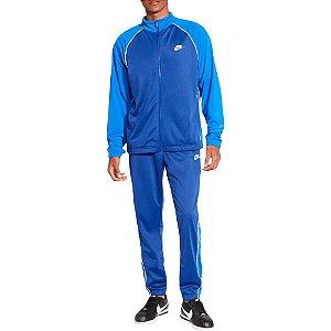 Agasalho Nike NSW Suit Basic Masculino - Azul+Branco