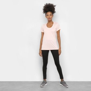Camiseta Under Armour Tech  Feminina - Rosa Claro