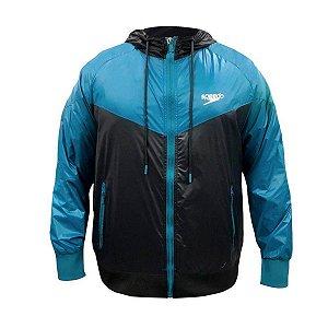 Jaqueta  Tricolor Azul - Masculino - Speedo Corta-Vento