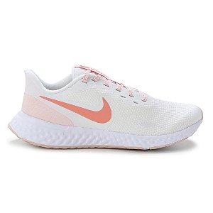 Tênis Nike Revolution 5 Feminino - Branco+Laranja