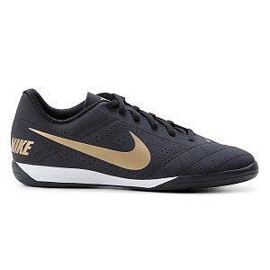 Chuteira Futsal Nike Beco 2 - Preto+Dourado