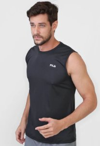 Camiseta Fila Basic Sports Masculina - Preto