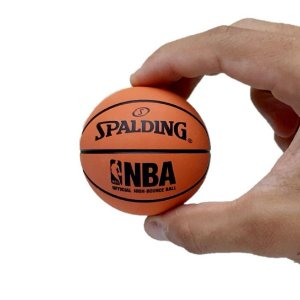 Mini Bola de Basquete NBA Spalding - Laranja