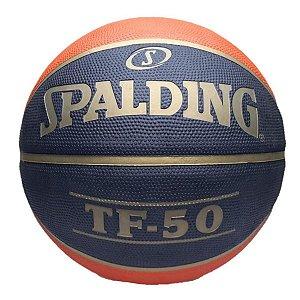 Bola de Basquete Spalding TF-50 CBB - Borracha - Laranja+Preto T5