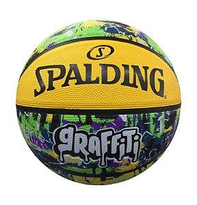 Bola de Basquete Spalding Graffiti Amarelo+Verde