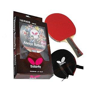 Raquete de Tênis de Mesa Butterfly Bty 303 + Capinha