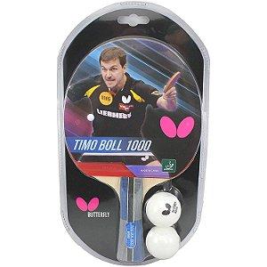 Raquete Tenis De Mesa Butterfly Timo Boll 1000+2 Bolas 40+