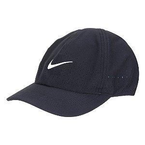 Boné Nike Court Aba Curva Strapback Aerobill Advantage - Preto+Branco
