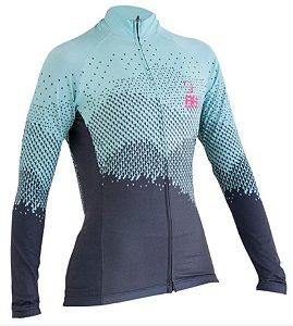 Camisa Ciclismo Manga Longa RH-34 Azul Feminina Bike RH Sports