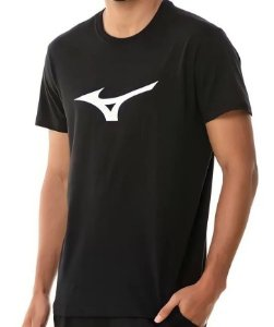 Camiseta Mizuno Spark Masculina-Preto