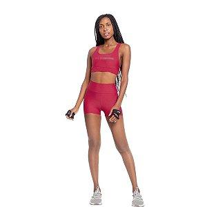 Shorts Live Feminina Fit  Training - Vermelho