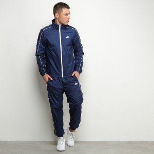 Agasalho Nike masculino Suit Basic - Azul+Branco