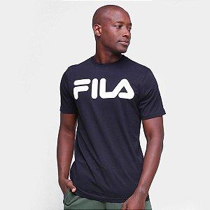 Camiseta Fila Masculino Letter II - Preto+Branco