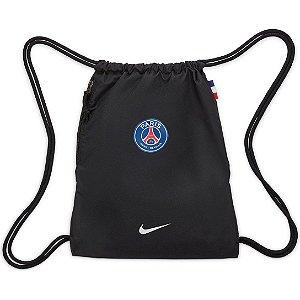 Sacola Nike Paris Saint-Germain Stadium Gym Sack - Preto+Branco