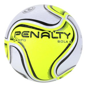 Bola de Futebol Campo Penalty 8 X - Branco+Amarelo